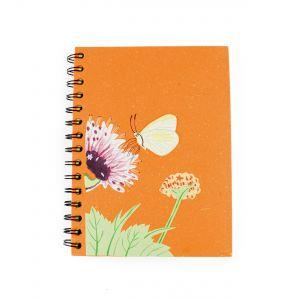 Elecosy: Large Spiral Notebook - Orange Butterfly Design