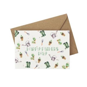 Happy Father's Day (Gardening)  - Wildflower Plantable Card