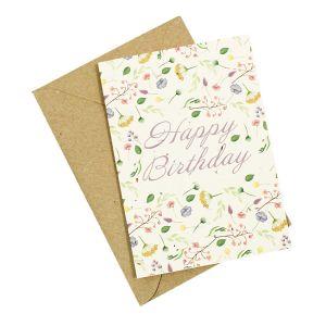 Happy Birthday Floral - Wildflower Plantable Card