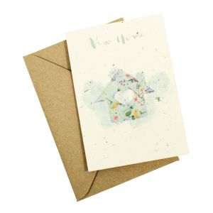 New Home - Wildflower Plantable Card