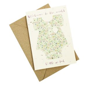 Welcome to the world (new baby) - Wildflower plantable card