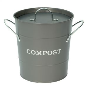 Garden Trading Charcoal - Metal Compost Pail