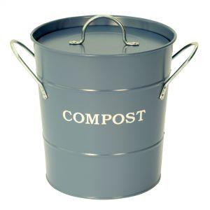 Garden Trading Dorset Blue - Metal Compost Pail