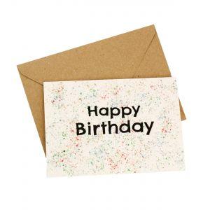Happy Birthday (Paint Splatter Design) - Wildflower Plantable Card
