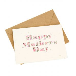 'Happy Mother's Day' Bold Print Design - Wildflower Plantable Card