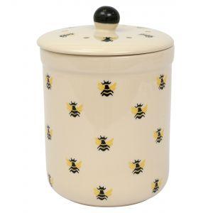 Haselbury Ceramic Compost Caddy / Food Waste Bin - 3L - Honey Bee Design - Main Image
