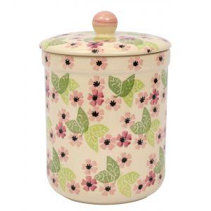 Haselbury Ceramic Compost Caddy / Food Waste Bin - 3L - Blushing Susan Floral Design - Main