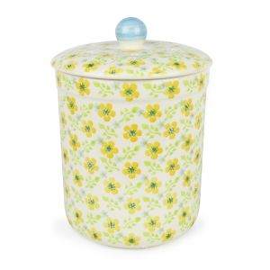 Haselbury 3L Ceramic Compost Caddy/Food Bin - Buttercup meadow