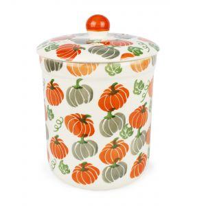 Haselbury 3L Ceramic Compost Caddy/Food Bin - Pumpkin Patch