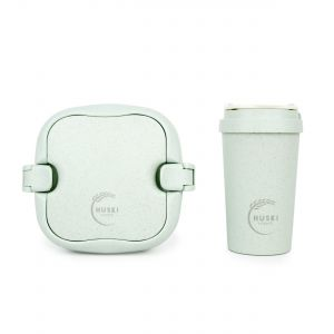 Huski Home - 400ml Travel Cup & Multi-Component Lunch Box - Duck Egg Blue