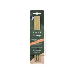 VENT: Recycled CD Case Ideas 3x Pencil Pack (Green/Gold)