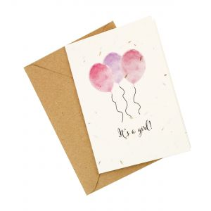 It's a Girl! - Wildflower Plantable Card