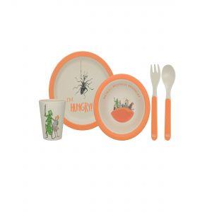 4PC Bamboo Dinner Set - Roald Dahl's James & The Giant Peach