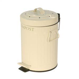 Compost Pedal Bin - Cream