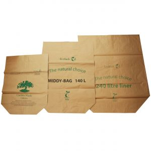 Sample Compostable Paper Bags Pack - EcoSack 75L, 140L, 240L