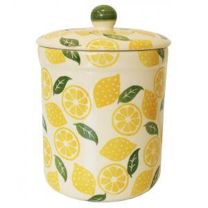 Haselbury 3L Ceramic Compost Caddy/Food Bin - Limoncello