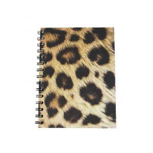 Large Spiral Notebook –  Leopard Print Design