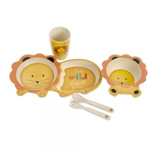 Eco Bamboo 5PC Kids Set - Lion
