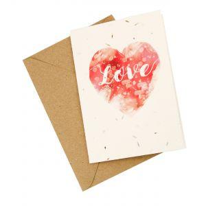 Love Heart Design - Wildflower Plantable Card
