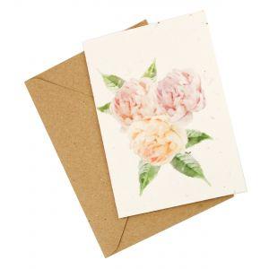 Peony Design - Wildflower Plantable Card