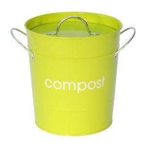 Metal Compost Pail - Lime Green
