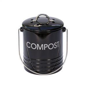 Mini Black Metal Compost Caddy
