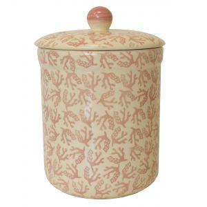 Haselbury 3L Ceramic Compost Caddy - Pink Seaweed