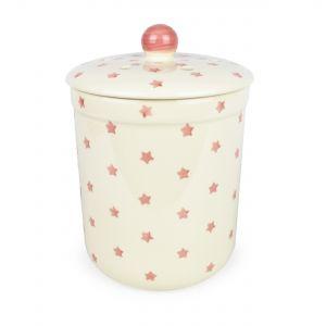 Haselbury 3L Ceramic Compost Caddy/Food Bin - Pink Twinkle Star