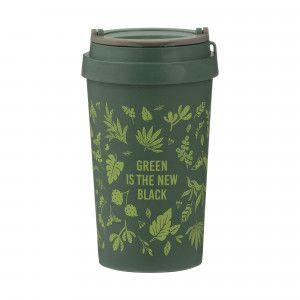 Pure Wheat Fibre Travel Mug (380ml) - 'Green is the New Black'