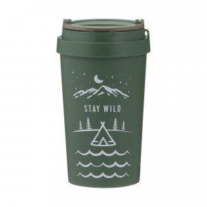Pure Wheat Fibre Travel Mug (380ml) - 'Stay Wild'