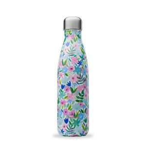 Qwetch Insulated Stainless Steel Bottle 500ml (Flora Blue)