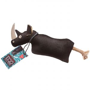 Green & Wilds Eco Dog Toy - Ronnie the Rhino