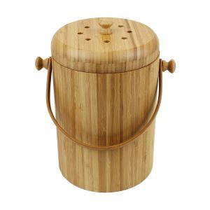 Wooden Bamboo Compost Caddy / Food Waste Bin 4L - Main