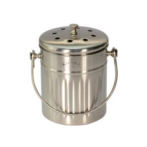Mini Brushed Stainless Steel Compost Caddy