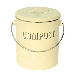 Vintage Kitchen Compost Caddy - Cream