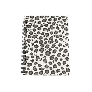 Large Spiral Notebook – Snow Leopard Print Design