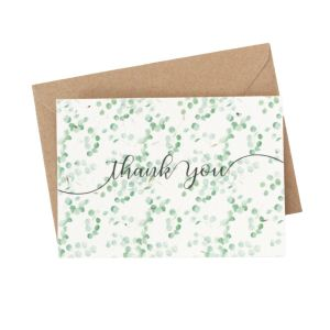 Eucalyptus Thank You (Pack of 5) - Wildflower Plantable Card