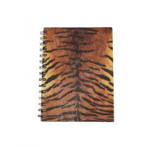 Large Spiral Notebook – Tiger Print design
