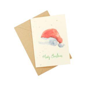 Christmas Santa Hat (Pack of 5) - Wildflower Plantable Card
