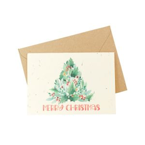 Merry Christmas Tree (Pack of 5) - Wildflower Plantable Card