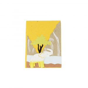 Elecosy Small Notebook - Yellow with an Elephant Design