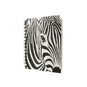 Large Spiral Notebook – Zebra Eye design