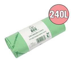240l compostable large wheelie bin liners
