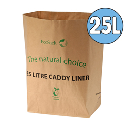 25l paper compostable food waste bags