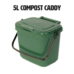 5l food waste compost caddy