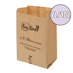 7L & 10L paper compostable food waste bags